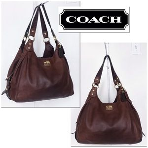 Coach Maggie Distressed Leather Madison Hobo Bag